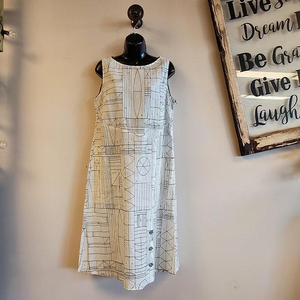 Habitat White Geometric Print Dress