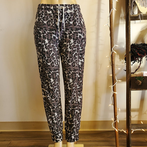Tribal Grey Leopard Print Joggers