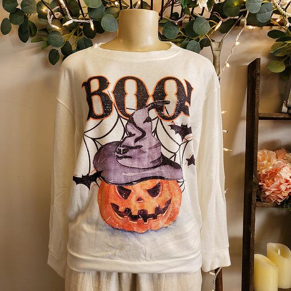 BOO! Halloween Pullover Sweater