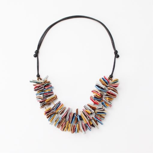 Double Strand Leather Kendra Necklace