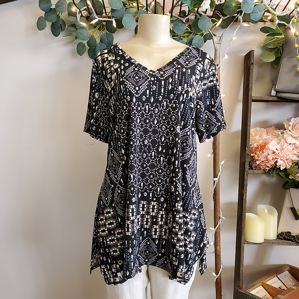 Black Diamond Tunic Top