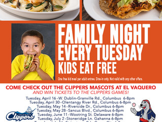 Come check out the Clippers Mascots at El Vaquero on Tuesday!