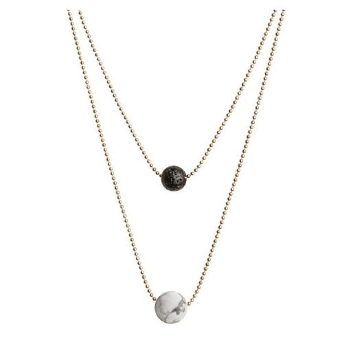 Diffuser Necklace - White