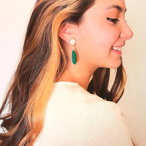 Aros XL Verde Esmeralda