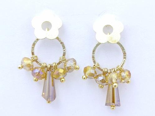 Aros Dorados Cristal