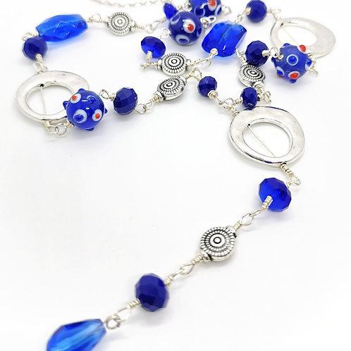 Collar Azul Fantasía