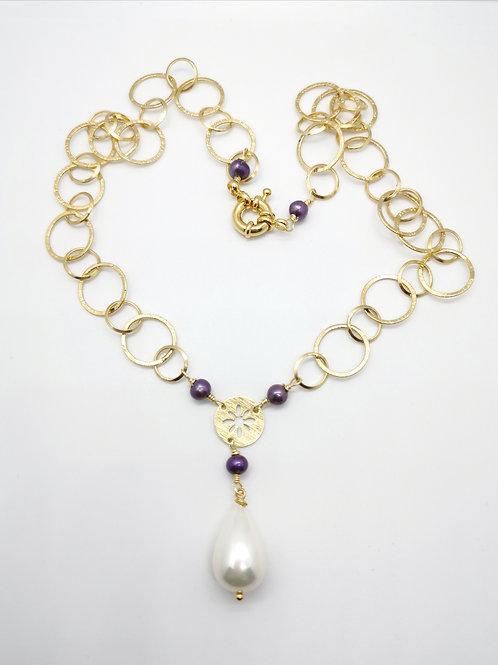 Collar Perla XL - Morado