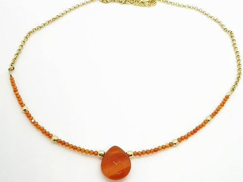 Collar Gota de Cornalina