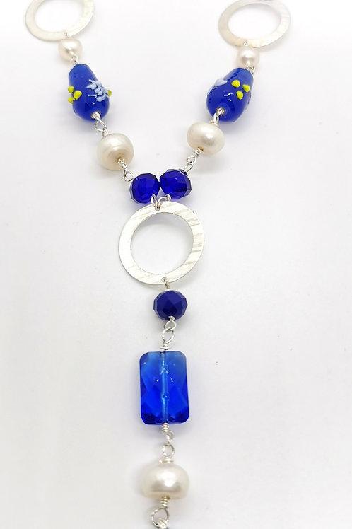 Collar Azul Plata