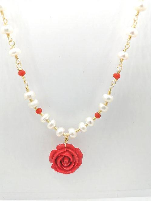 Collar Flor Coral