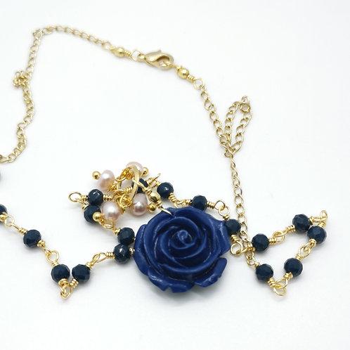 Collar Flor Azul