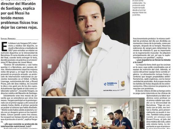 Chileno diseñó protocolo en el Fútbol Club Barcelona (Las Últimas Noticias)