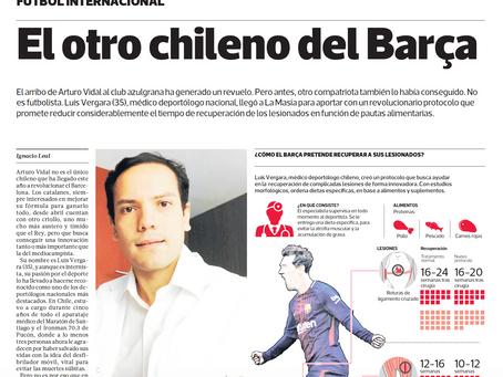 """El otro chileno del Barça"", Diario La Tercera (Chile)"