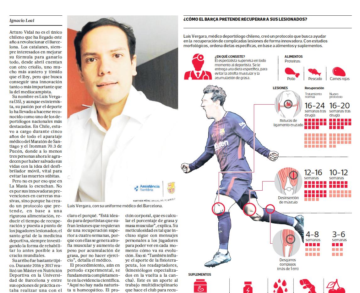 """""""Otro Chileno en el Barça"""" (La Tercera)"""