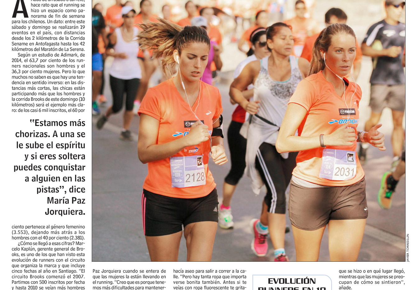 Mujeres y boom en el running (Las Últimas Noticias)