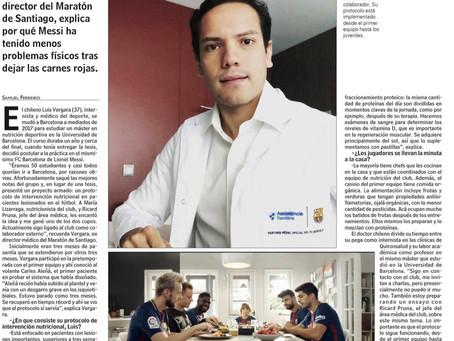 Intervención Nutricional en Lesiones: Entrevista para diario Las Últimas Noticias (Chile)