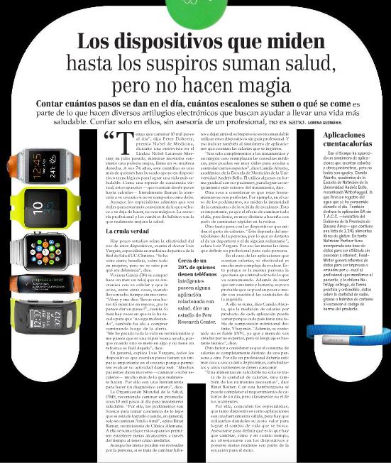 Tecnologia en el deporte (Diario El Mercurio)