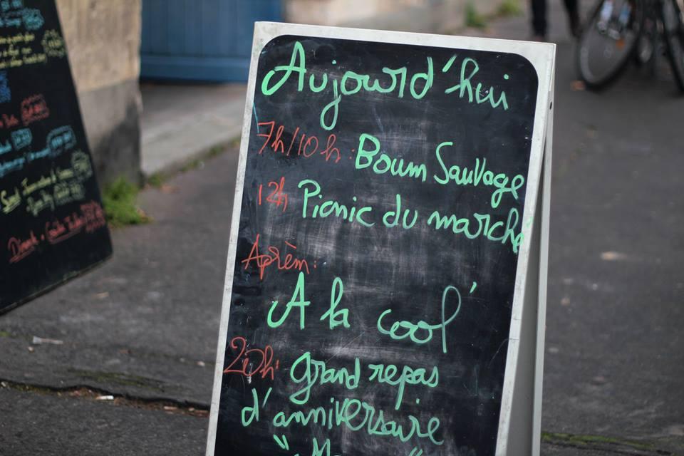 Panneau du Café Sauvage