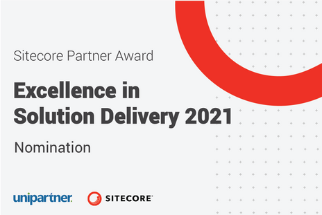 Unipartner is nominated for Sitecore's Excellence in Solution Delivery award!