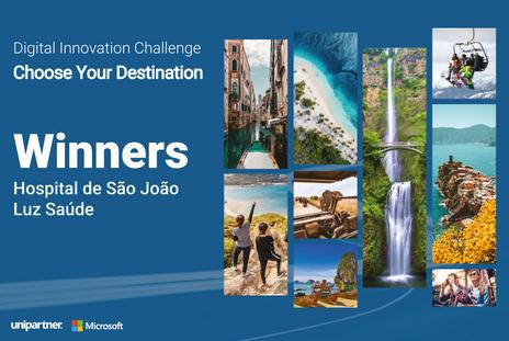 CHU São João and Luz Saúde were the winners of Unipartner's Digital Innovation Challenge!