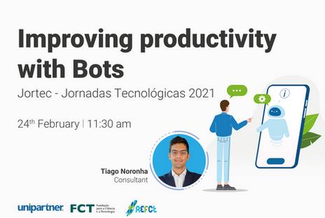 "Tiago Noronha at JORTEC - ""Improving Productivity with Bots"""