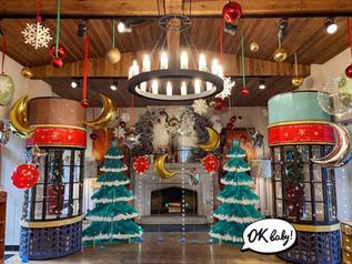 Оформление Новогодней елки из картона.jp