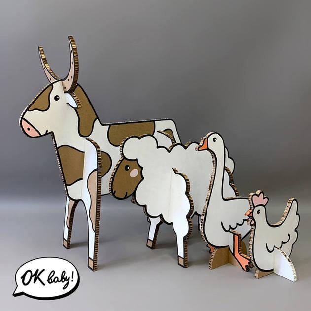 Объемные животные из картона.jpg