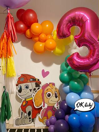 Воздушыне шары на праздник Щенячий патр