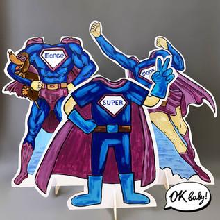 Тантамарески из картона Супергерои.jpg