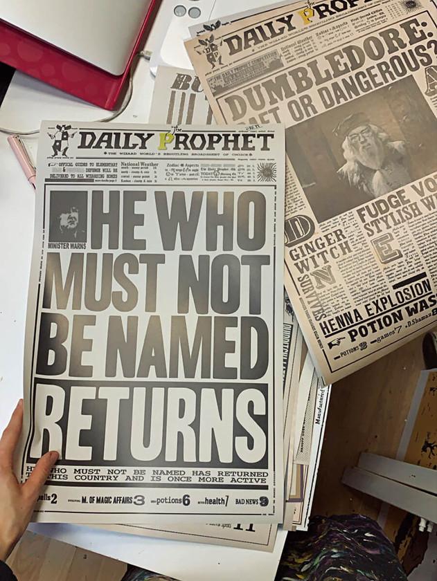 Ежедневный пророк вечеринка Гарри Поттер