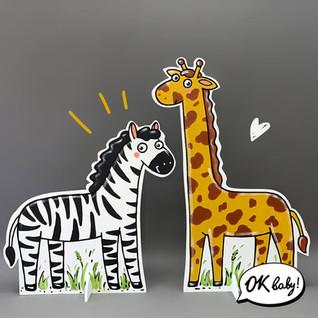 Зебра и жираф из картона.jpg