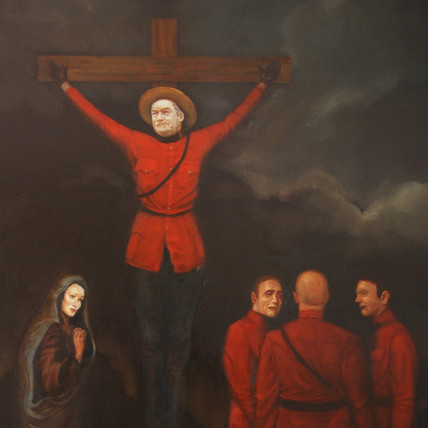 Conrad Black as a Crucified Mountie