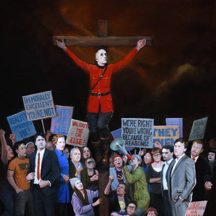 Jordan Peterson As A Crucified Mountie