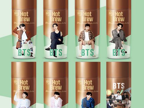 【「BTSスペシャルパッケージ ホットブリューマカダミアモカラテ」販売開始について】