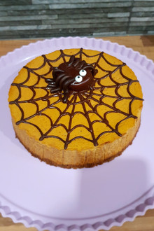 Spooktacular Guilt Free Pumpkin Cheesecake