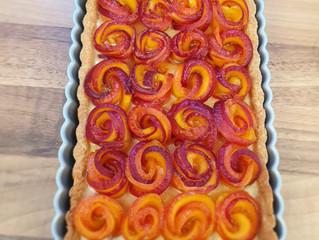 Peach Bouquet Frangipane Tart