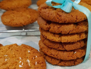 Coconut Ginger Nut Biscuits