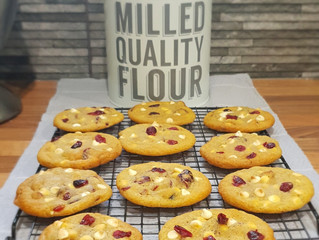 Cranberry & White Choc Chip Cookies