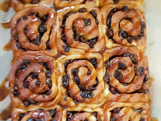Sticky Toffee Chelsea Buns