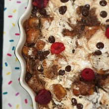 Marshmallow & Chocolate Bread Pudding