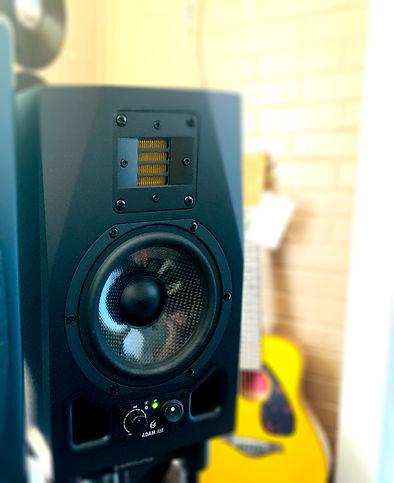 Adam Audio A5X Studio Monitor, Yamaha Junior Acoustic Guitar