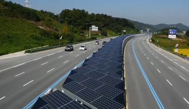 Land along Highway Used For Solar