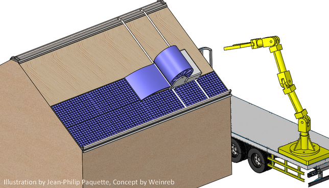 Automate Installation of Solar Direct to Plywood