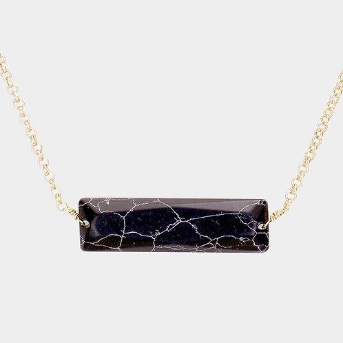 Horizontal Stone Necklace