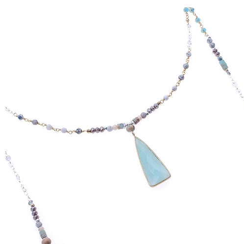 Cloudy Turquoise Lariat