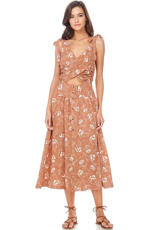 Orangsicle Midi Dress