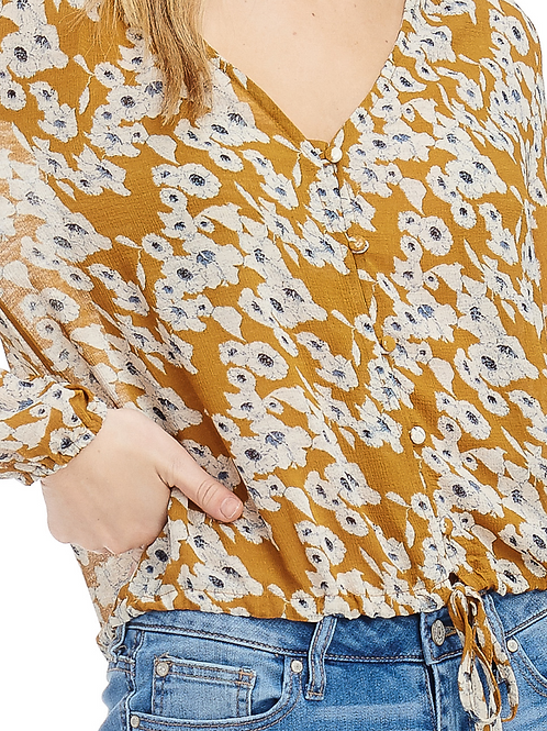 Marigold Flower Top