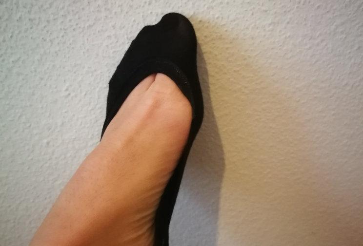 Schwarze Socken - klein getragen