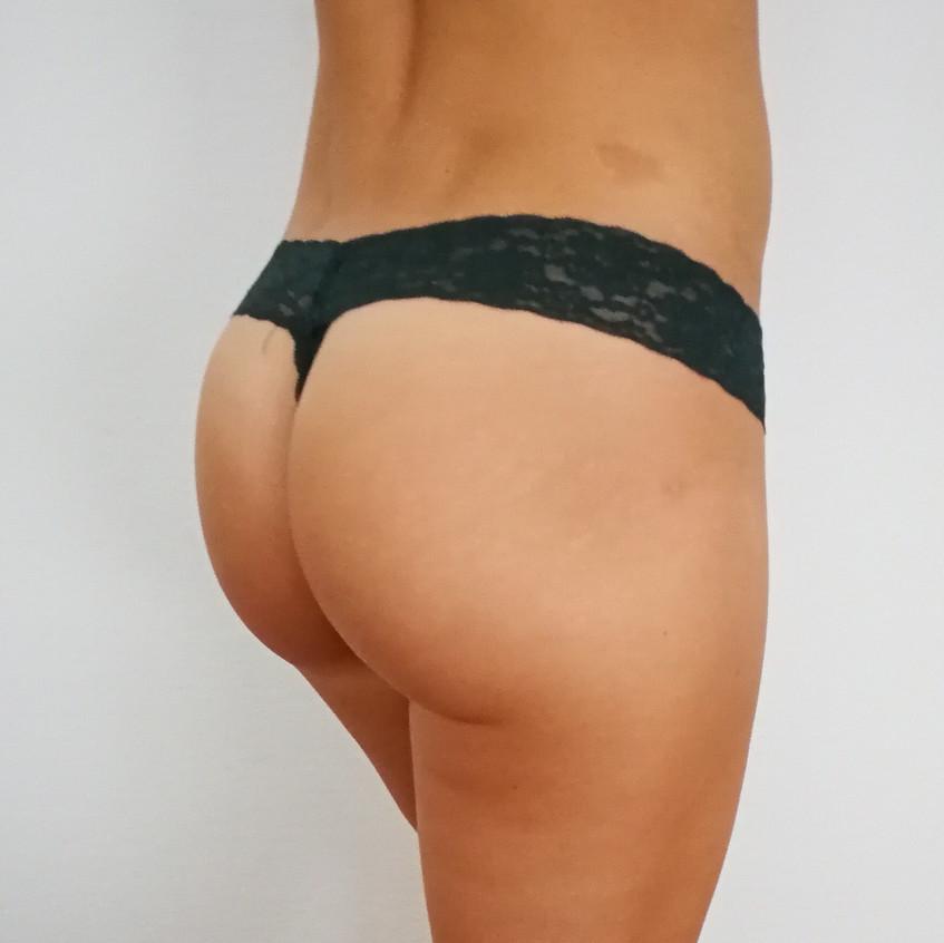 dunkelgrün panty getragen