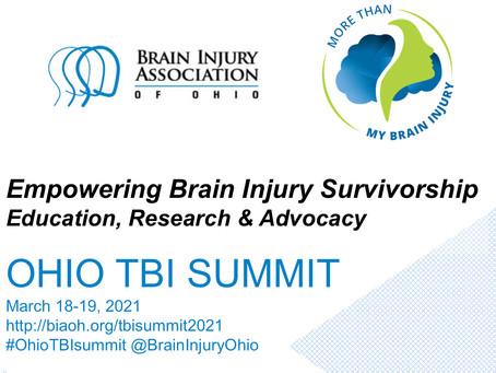 Brain Injury Association of Ohio Summit (18/19 March 2021)